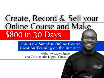 CREATE RECORD AND SELL YOUR ONLINE COURSE
