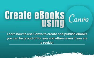 CREATE EBOOKS USING CANVA