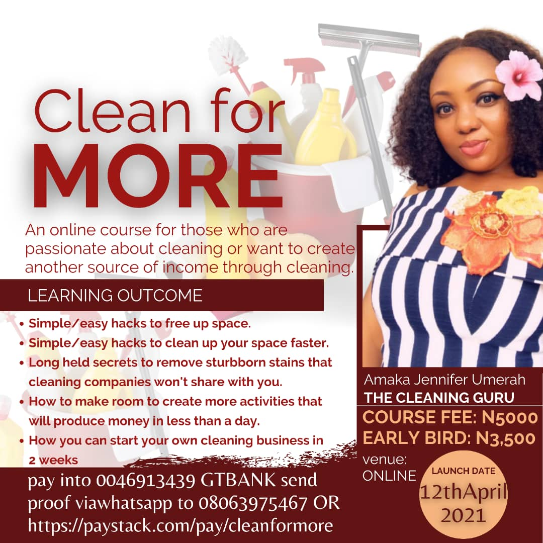 CLEAN FOR MORE